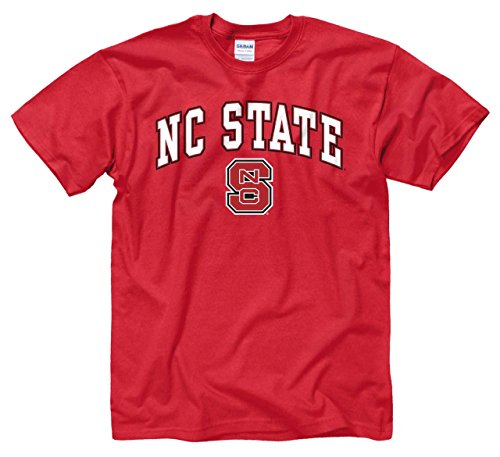 Campus Colors NC State Wolfpack Arch & Logo Gameday T-Shirt - Red, (Red North Carolina State University)