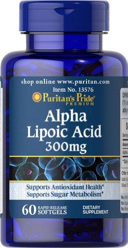 Puritan's Pride Alpha Lipoic Acid 300 mg-60 Softgels