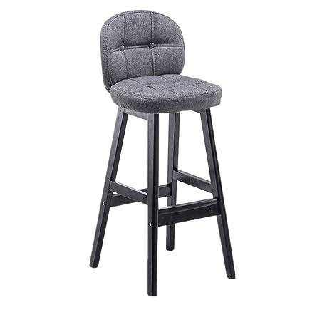 Tremendous Amazon Com Bar Stools Congming Wooden Cloth Armrest Bench Theyellowbook Wood Chair Design Ideas Theyellowbookinfo