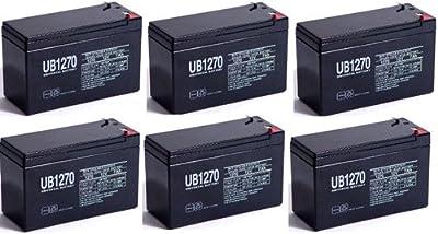12V 7AH SLA Battery Replaces gp1272 np7-12 bp7-12 npw36-12 ps-1270 ub1280 - 6 Pack