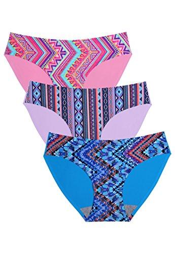 Wealurre Seamless Underwear Invisible Bikini No Show Nylon Spandex Women -