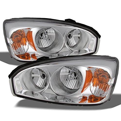 Malibu Headlight Lamp (Chevy Malibu OE Replacement Chrome Bezel Headlights Driver/Passenger Head Lamps Pair New)