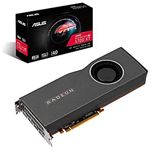 ASUS AMD Radeon RX 5700 XT PCIe 4 0 VR Ready Graphics Card with 8GB GDDR6  Memory and Support for up to 6 Monitors (RX5700XT-8G)