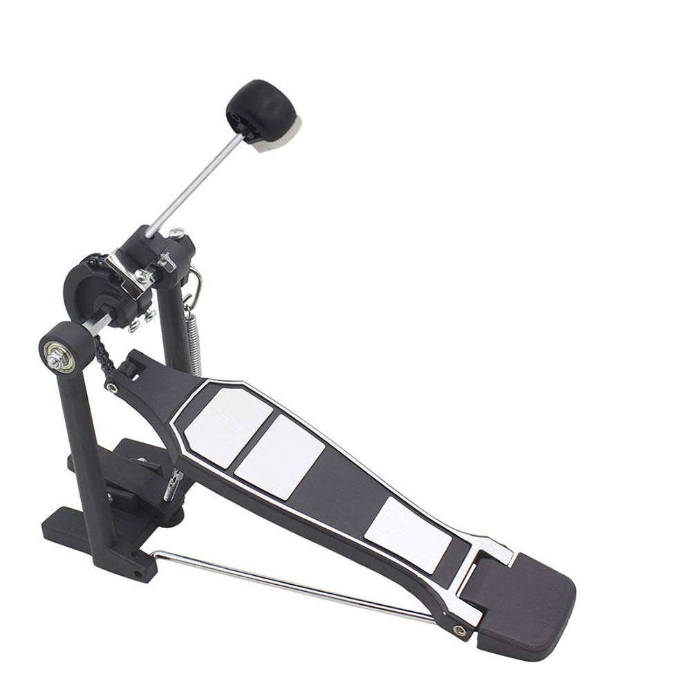 dezirZJjx Bass Drum Beater,Drum Pedal Beater with Compact Felt Head,Hammer Percussion Instrument Accessory Black