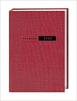 Taschenkalender 2020 gebunden Format 15,2 x 21,5 cm Wochenkalendarium Struktur schwarz Terminer A5