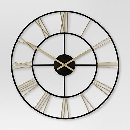 Threshold Decorative Wall Clock – Gold Black