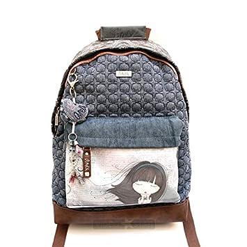Sany Bags S.L. Anekke Moon Blue Bagpack Sac à dos loisir, 40 cm, Beige