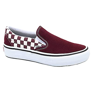 b067bcc887 Vans Men s Shoes Slip On Pro Checkerboard Suede Port Royale Sneakers (13 D(M