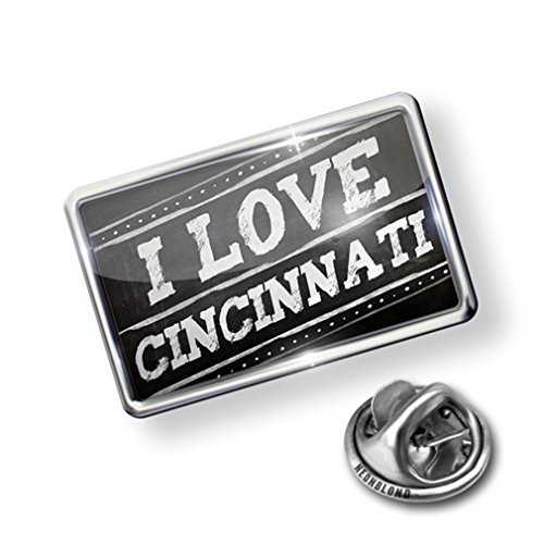 new Pin Chalkboard with I Love Cincinnati - Lapel Badge - NEONBLOND for cheap