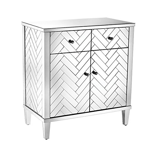 Sterling Home Decor Chatelet Cabinet In Clear Mirror Finish by Sterling
