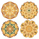 Pacific Merchants Mandala Gold Tones 6.25'' Plateful Parchment Doily - 20ct