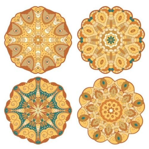 Pacific Merchants Mandala Gold Tones 6.25