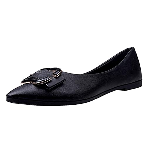 refulgence Women s Casual Pointed Toe Comfort Flats Shoes Single Shoes(US 5 e7dc6078073