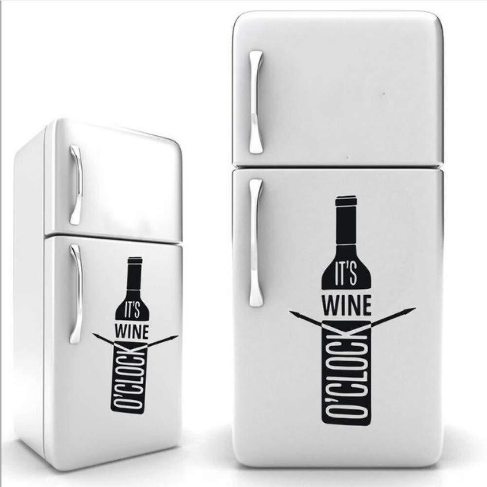 Waofe Es Wine O Clock Botella De Vino Nevera Arte Diseño Cocina ...