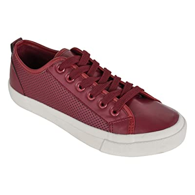 Womens Sneakers Lace Up Perforated Casual Walking Tennis Fashion Shoes for Women | Walking