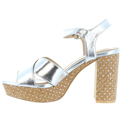 Grace Pls90161 Femme Silver Pepe Sandales Jeans Pour 934 qUwxS4pX