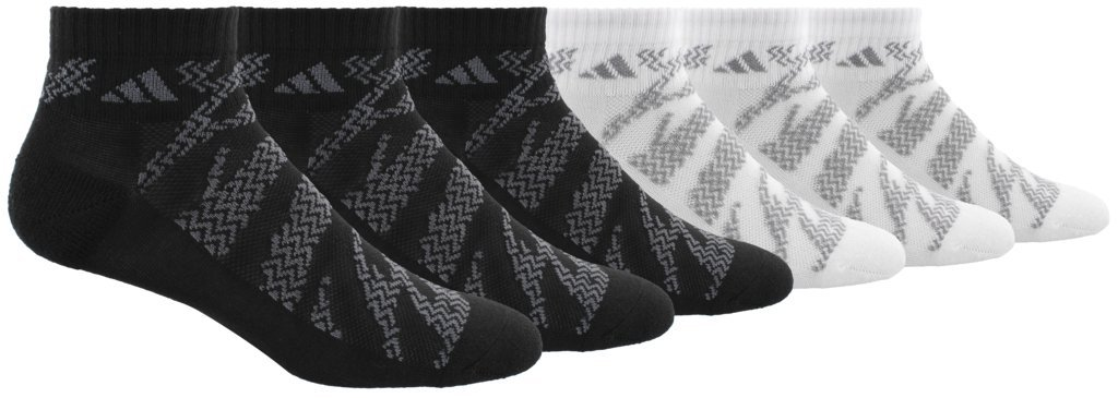 adidas Boys/Youth Tiger Style Cushioned Quarter Socks (6 Pack)
