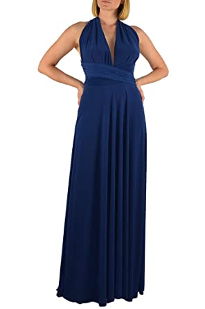 236c177f1aa Ivon L.A. Transformer Infinity Convertible Maxi Dress Made in USA (Light- Navy)