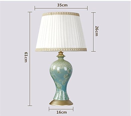 KAI Chinesische Keramik Tischlampe Monochrome Glasur Amerikanischen Stil  Schlafzimmer Wohnzimmer Einfache