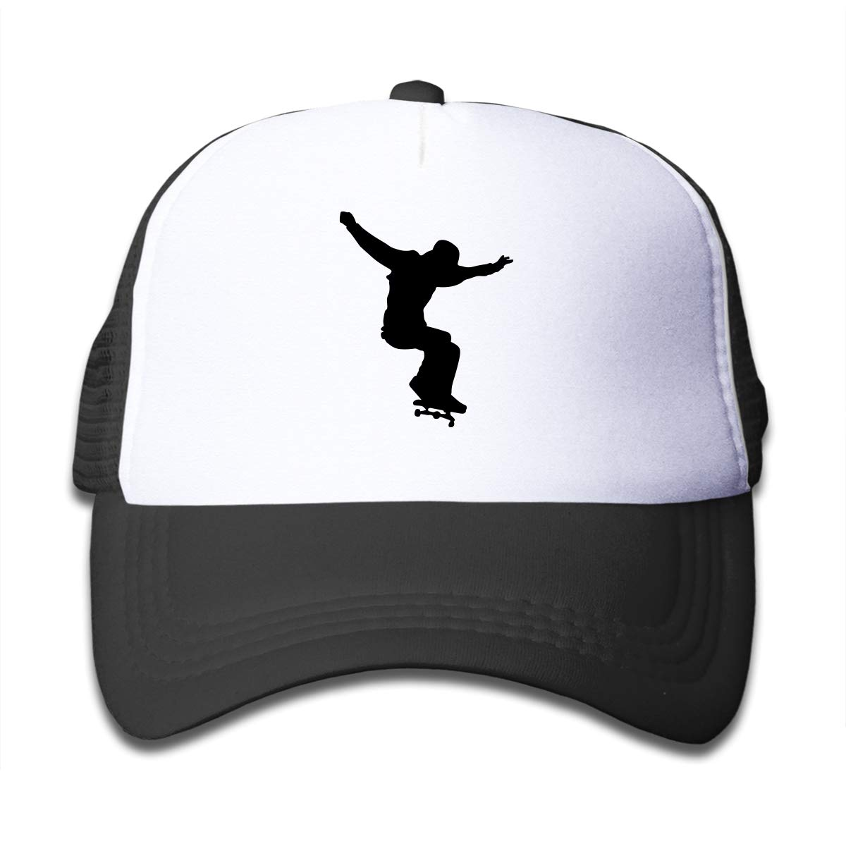 WGERTOG Skateboard Skater On Kids Trucker Hat Youth Toddler Mesh Hats Baseball Cap