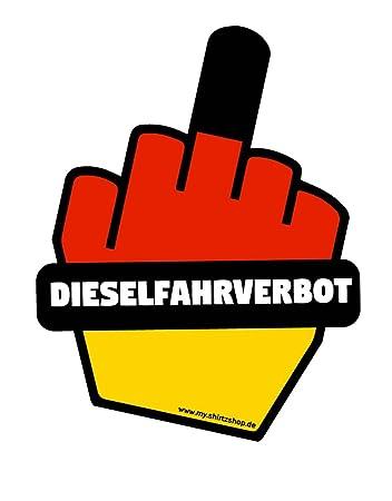 Dieselfahrverbot Sticker Schwarz Rot Gold Dieselfahrverbot Diesel Umweltplakette Aufkleber Autoaufkleber Sticker Vinylaufkleber Decal