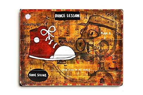 Dance Lesson Wood Sign 9x12 (23cm x 31cm) Solid