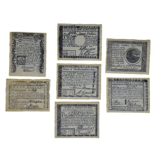 TG,LLC Colonial Era British Revolutionary War Replica Paper Money Currency Set ()