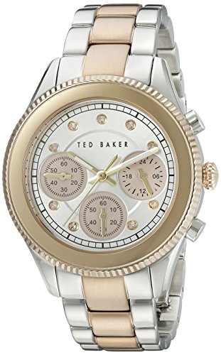 Ted Baker Women's TE4109 Dress Sport Analog Display Japanese Quartz Silver Watch