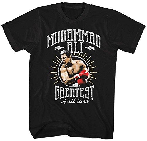 Muhammad Ali- Greatest Of All Badge T-Shirt - Schwarz