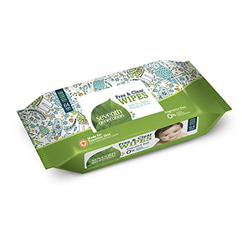 Large Product Image of Seventh Generation Thick & Strong Free and Clear Baby Wipes Refill, Pack of 6 (Total 384 Count)