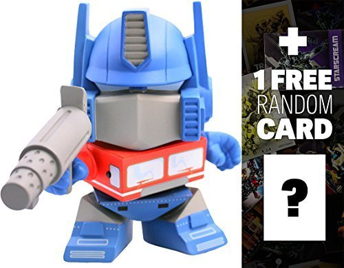 """Talking Optimus Prime: ~5.5"""" Action Vinyls x Transformers Figure Series + 1 FREE Official Transformers Trading Card Bundle"""