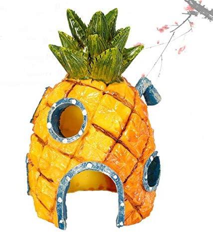 Aokshen Pineapple House Acuario resina paisajismo peces camar/ón cangrejo Dodge Casa Decoraci/ón de acuario