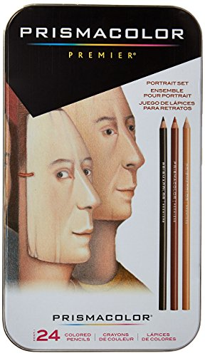- Sanford 25085R Prismacolor Premier Colored Pencils, Portrait Set, Soft Core, 24-Count