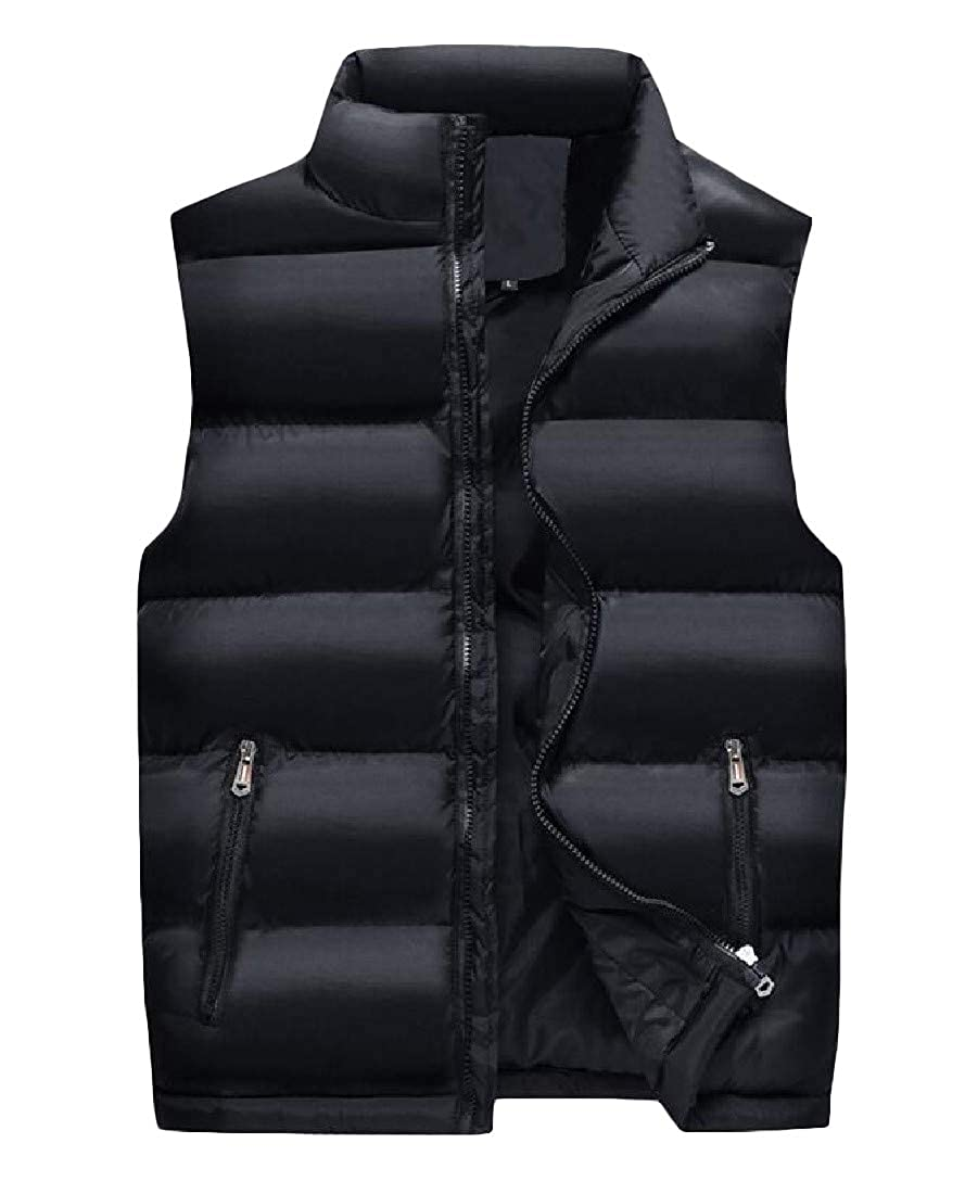 Macondoo Men Quilted Cotton-Padded Down Waistcoat Coat Fit Puffer Vest