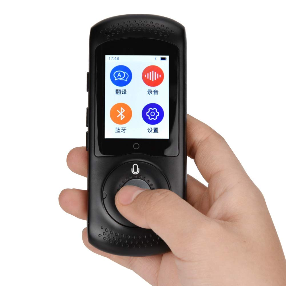 Zoternen Traduttore vocale istantaneo e Portatile Traduttore Intelligente Tascabile a 42 Lingue con Schermo Touch da 2,0 Pollici Wi-Fi Punto di Accesso Mobile Nero