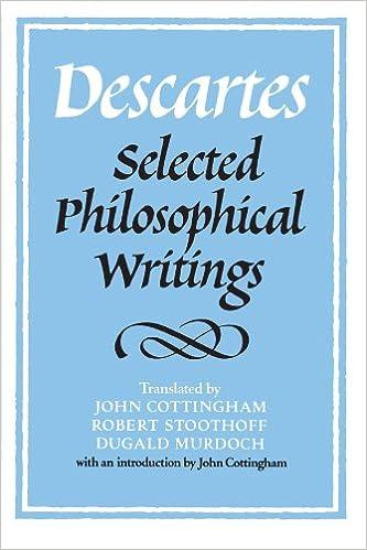 the great philosophers descartes cottingham john
