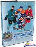 2017/18 Upper Deck Series 1 NHL Hockey Awesome Starter Kit with 5 Packs, Ultra Pro Binder that holds up to 252 Cards, Checklist Poster, Collector's Guide & EXCLUSIVE Sophomore Sensations Card! Wowzzer