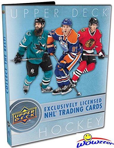 2017/18 Upper Deck Series 1 NHL Hockey Awesome Starter Kit with 5 Packs, Ultra Pro Binder that holds up to 252 Cards, Checklist Poster, Collectors Guide & EXCLUSIVE Sophomore Sensations Card! Wowzzer