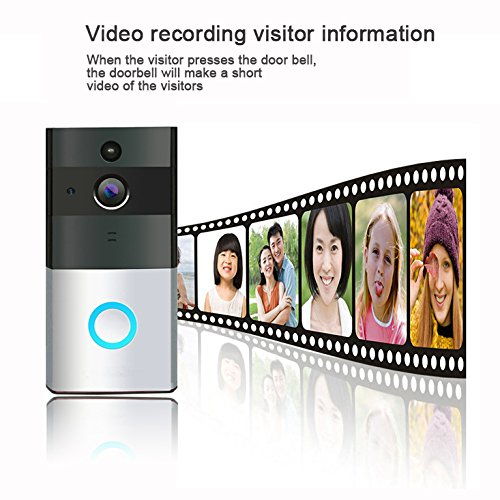 TIVDIO ZC-IP08 Video Doorbell Wireless Doorbell Camera 720P HD Wi-Fi Security Camera with 1 Indoor Chime Built-in 8G Card, App Control for IOS and Android by TIVDIO (Image #2)