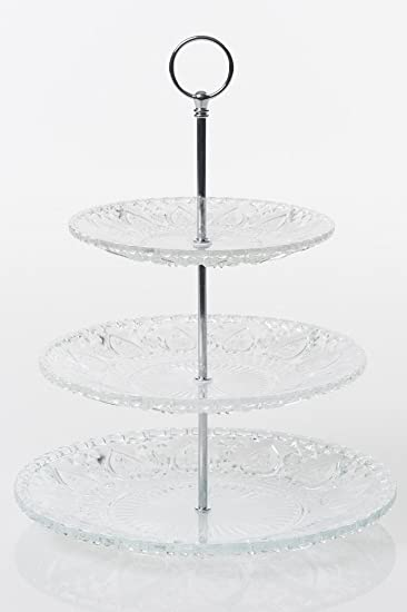Etagere 3 Stöckig Glas N000 Gebäck Kekse Süßigkeiten Ständer ... | {Süßigkeiten & gebäck 44}