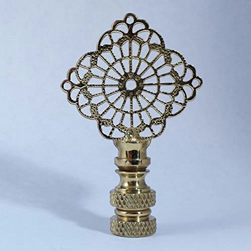 Diamond Filagree Lamp Finial - Multiple Colors & Design - 2.5 - 3 Inches (Polished Filigree Diamond)