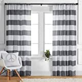 """Better Homes and Gardens Stripes Panel, 52"""" x 84"""", Gray"""