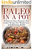 PALEO IN A POT:: 20 Quick & Easy Beginner Slow Cooker Recipes For Weight Loss And Optimum Health. (Paleo Made Painless Book 7)