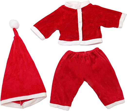 NUOBESTY - 3 piezas de ropa de Papá Noel para disfraz de muñeca de ...
