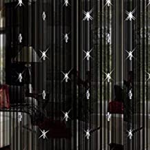 Forart Beaded String Curtain with 3 Bead Window Door Beauty Home Decorative Panel