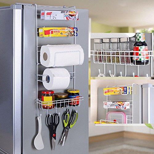 OKOKMALL US--Hot 6 Tier Kitchen Spice Rack Storage Shelf Over Fridge Cabinet Holder - Royal Spice Clothing