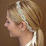 BST Bride's Flower Shape Pearl Forehead Wedding Headdress Headbands 1 PC