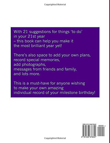 The 21st Birthday Yearbook 21 things to do in your 21st year