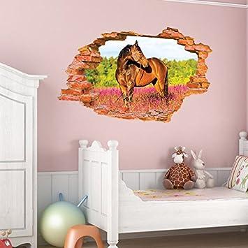Stickerkoenig 3D Design Wandtattoo Pferd Pony Kinderzimmer ...