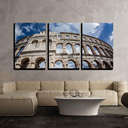 Roman Colosseum in Pula Croatia x3 Panels